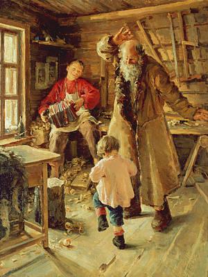 A Merry Moment Poster by Antonina Leonardov Rzhevskaya