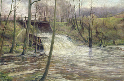 A Mill Stream Poster by Karl Oderich
