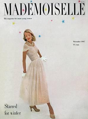 A Model In A Filcol Net Dress Poster