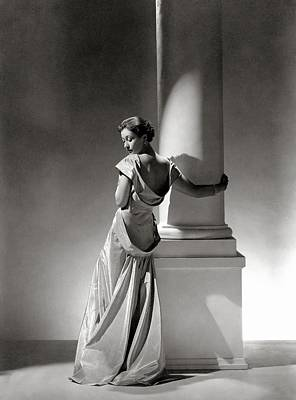 A Model In A Gown By Vionnet And Jewelry Poster by George Hoyningen-Huene