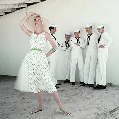 A Model In A Polka Dot Dress Poster by Leombruno-Bodi