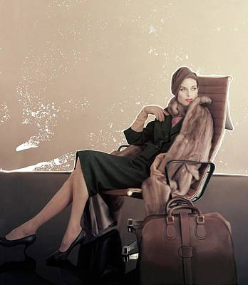 A Model In An Eames Chair Poster