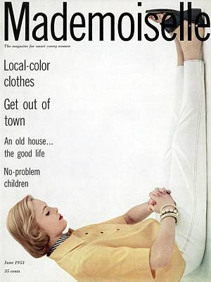 A Model In Clothing By Beacon Poster by Herman Landshoff