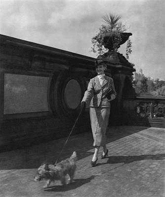 A Model Walking A Dog Poster by Remie Lohse