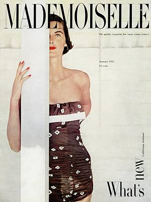 A Model Wearing A Bathing Suit By Cole Poster by John Engstead