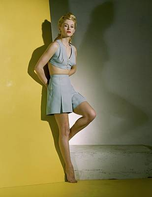 A Model Wearing A Bathing Suit Poster by Horst P. Horst