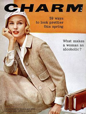 A Model Wearing A Tweed Suit By Glenhaven Poster by Carmen Schiavone
