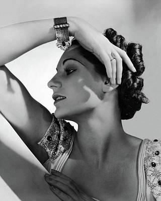 A Model Wearing Black Starr & Frost-gorham Poster