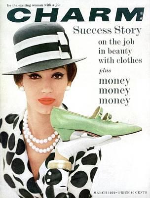 A Model With A Margaret Jerrold Kidskin Shoe Poster