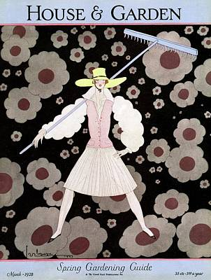 A Model With A Rake Poster by Georges Lepape