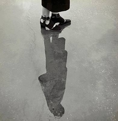 A Model's Feet Wearing R. R. Bunting Shoes Poster by Roger Schall