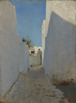A Moroccan Street Scene, 1879-1880 Poster