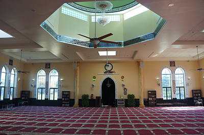 Poster featuring the photograph A Mosque Interior by Artistic Panda
