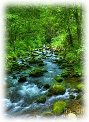 A Mountain Stream Poster by Mel Steinhauer