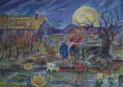 Poster featuring the painting A Nap By The Lily Pond by Avonelle Kelsey
