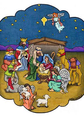 A Nativity Scene Poster by Sarah Batalka
