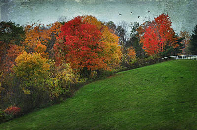 A New England Autumn Poster