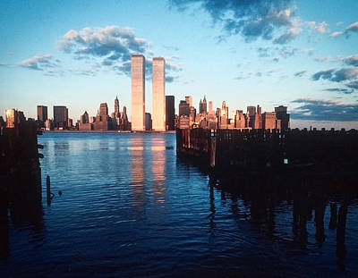 Poster featuring the photograph New York Sunset 1978 by Kellice Swaggerty