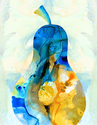 A Nice Pear - Abstract Art By Sharon Cummings Poster by Sharon Cummings