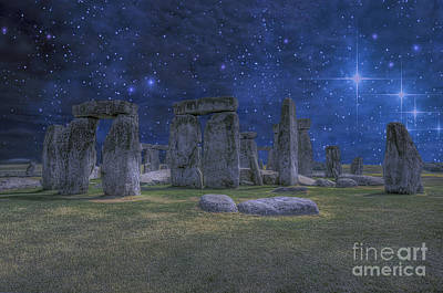 A Night At Stonehenge Poster by Darren Wilkes