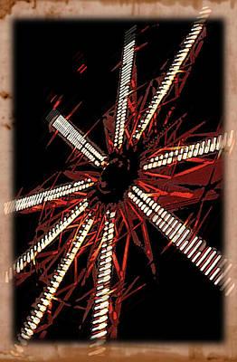 A Night Ride At Cedar Point Poster by Terri Harper