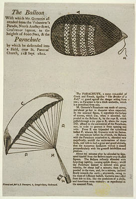 A Parachute Descent To A Field Near St Pa Poster by British Library