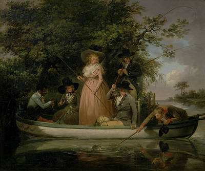 A Party Angling, George Morland, 1763-1804 Poster by Litz Collection