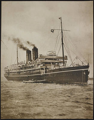 A Passenger Steamer. The S.s. Morea Poster by British Library