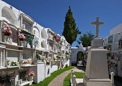 A Peaceful Graveyard In Casares,malaga Poster