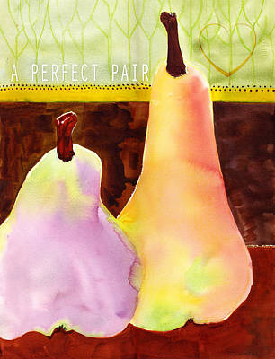 A Perfect Pair Text Words Poster by Blenda Studio