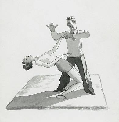A Physical Instructor Giving A Lesson Poster by Herbert Libiszewski