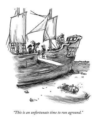 A Pirate Shit Stuck On Land Poster