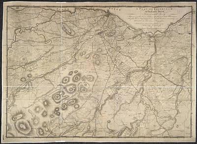 A Plan Of Edinburgh Poster