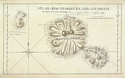 A Plan Of King Georges Island On Otaheite Poster