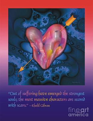 A Pierced Heart Poster 1 Poster by Walter Oliver Neal