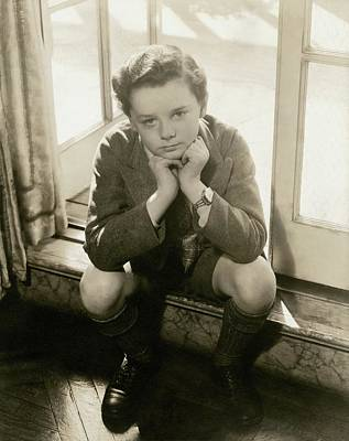 A Portrait Of Actor Freddie Bartholomew Poster by Lusha Nelson