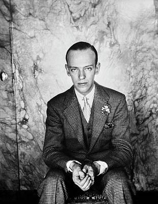 A Portrait Of Fred Astaire Sitting Poster