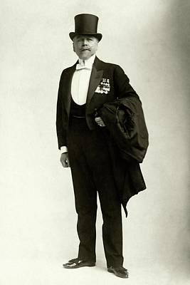 A Portrait Of Frederic Villiers In A Tuxedo Poster by Elliott & Fry