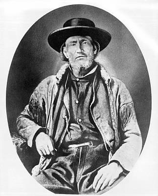 A Portrait Of Jim Bridger Poster by Underwood Archives