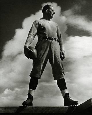 A Portrait Of Lou Little With A Football Poster