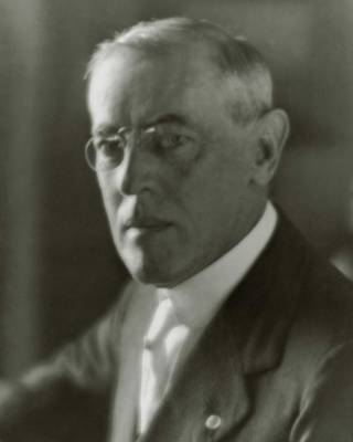 A Portrait Of Woodrow Wilson Poster by Arnold Genthe