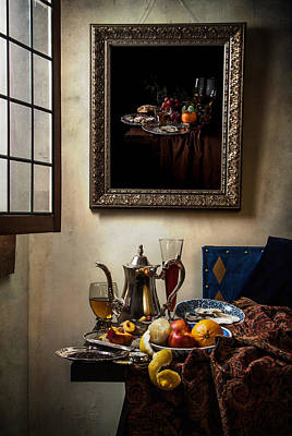 A Pronkstilleven From Vermeer To Kalf Poster by Levin Rodriguez