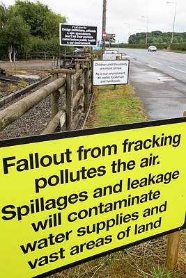 A Protest Banner Against Fracking Poster by Ashley Cooper