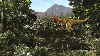 A Protofeathered Lythronax Comes Poster