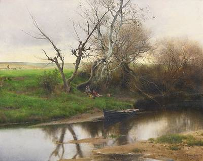 A Quiet Stretch Of River Poster by Celestial Images