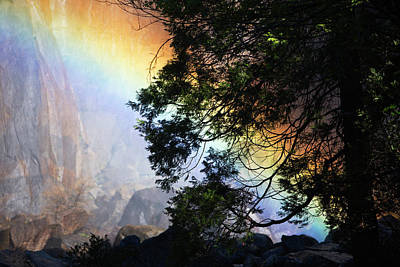 A Rainbow Below Yosemite Falls Poster by Marc Moritsch