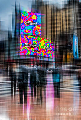 A Rainy Day In New York Poster by Hannes Cmarits