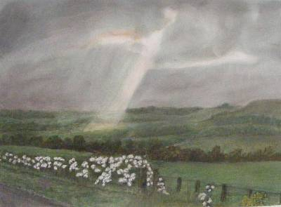 A Ray Of Light On A Stormy Day Poster by Thomas McCaskie