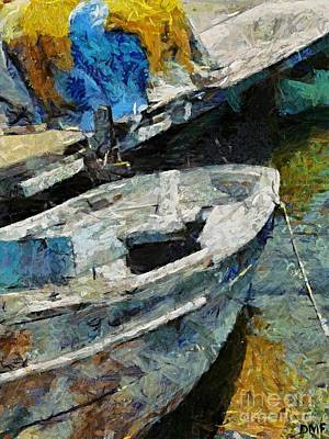 A Really Old Wooden Boat Poster by Dragica  Micki Fortuna