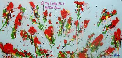 A Red Red Rose Poster
